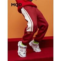 【1件3折:138】MQD男童针织裤2019冬新款加厚中大童保暖儿童加绒