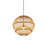 {至为家居}楠竹家具东南亚灯吧台新中式吊灯创意个性编灯餐厅复古工业风竹 A1 60X53.5cm