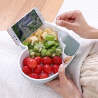 创意双层家用水果盘 吃瓜子零食盘分格收纳糖果盒干果盒