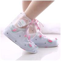【好货】雨鞋套防水鞋套 可爱防雨鞋套女士加厚底耐磨雨天鞋防水鞋套脚套雨靴下雨