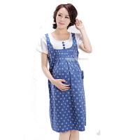 慈颜CIYAN韩版夏季假两件印花短袖孕妇裙夏装连衣裙孕妇夏Y605