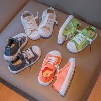 儿童帆布鞋夏季球鞋男童板鞋软底宝宝鞋幼儿园网鞋女童小白鞋