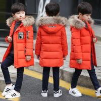 男童冬装中长款棉衣外套新款儿童夹棉加厚中大童棉袄男孩