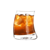 Ins网红餐厅咖啡杯 冷饮杯 果汁杯 冰咖啡杯 个性柠檬玻璃杯