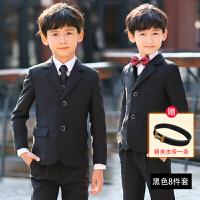 男童西装套装韩版2018新款男童礼服花童小孩西装帅气西服儿童西装套装男三件套MYZQ60