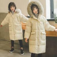 童装女童棉衣2018新款冬装韩版小女孩棉服中长款儿童洋气棉袄外套