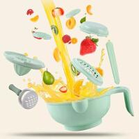 研磨碗 宝宝辅食手动食物研磨器果泥剪刀料理棒婴儿辅食机工具套装yw wk-140