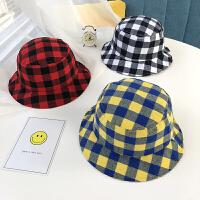 儿童帽子男潮新款男童盆帽韩国春秋季折叠女童遮阳帽宝宝帽子