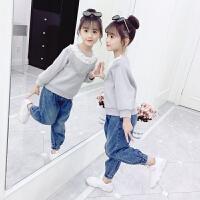 儿童春秋款洋气大童小女孩上衣童装2019秋季新款韩版女童卫衣