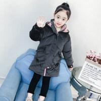 女童棉服冬装2018新款中长款加厚棉袄潮冬季韩版洋气儿童棉衣外套