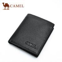 CAMEL 骆驼 头层牛皮尊贵绅士钱包 男士竖款皮夹