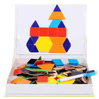 磁性七巧板拼图儿童智力开发宝宝早教玩具1-2-3周岁益智男孩女孩6