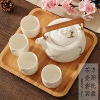 【优选】中式泡茶茶壶套装家用花茶茶杯杯具套装水杯水具陶瓷整套功夫茶具