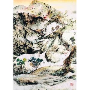 中国艺联副主席,中国翼书画协会主席 秦兴田(山水15)ZH153