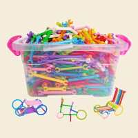 聪明积木玩具棒塑料拼装男孩女2-3-6周岁7-10益智力4幼儿童玩具