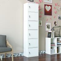 加高加厚带锁收纳柜家用柜子储物柜多功能卧室可锁柜子收纳柜阳台