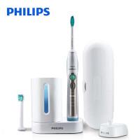 飞利浦电动牙刷声波式震动成人带消毒器HX6972 感应充电安全柔和