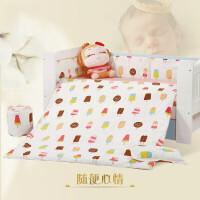 婴儿床品套件经典床围床单被子被芯枕套婴儿床五件套九件套a372QL-17 随便心情