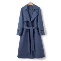 赫本风毛呢大衣零羊绒毛混纺呢外套女中长款韩版新款双面呢大衣