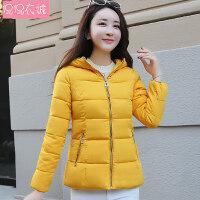 2018新款冬装棉衣女短款外套修身韩版小棉袄连帽加厚保暖上衣