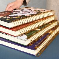 复古风加厚大线圈本学生文具B5文艺简约双面记事本备忘笔记本子