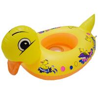海边游泳玩具加厚大小黄鸭子游泳圈救生圈座圈充气艇游艇水上儿童卡通沙滩戏水玩具