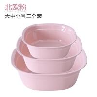 【品牌特惠】方形洗脸盆家用加厚脸盆婴儿儿童洗浴盆子大小号塑料盆