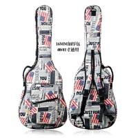 吉他包41寸加厚双肩个性学生用民谣木吉他包琴包40寸吉它包背包 款40/41寸通用(升级款)