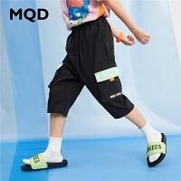【179元任选3件】MQD男童休闲裤2020夏中大童工装七分裤儿童宽松裤薄