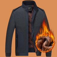 老年男装新款秋冬装外套40 50 60岁中老年爸爸加绒加厚夹克男
