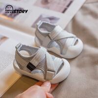 夏季婴幼儿软底包头学步鞋21-3岁宝宝鞋子男女小童透气凉鞋