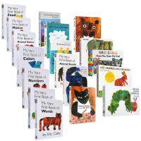 Eric carle艾瑞・卡尔爷爷经典绘本14本纸板书套装 富含想象力的拼贴画风格的图画书亲子英文原版童书绘本from head to toe The Very Hungry Caterpillar