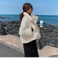 冬季两穿棉衣女短款韩版原宿风宽松蓬蓬小棉袄可爱面包服马甲