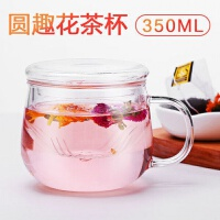 玻璃杯双层办公泡茶杯女带把透明水杯茶水分离过滤水杯抖音