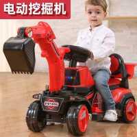超大�挖掘�C工程�男孩玩具汽�可坐人可�T��踊�行挖土�C��和�