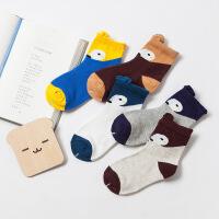 儿童袜子春秋棉袜卡通款儿童男女童袜婴儿中筒袜子1-12岁5双盒装