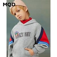 【折后券后�A估�r:112】MQD童�b男童�B帽�l衣2020冬�b新款中大童保暖上衣�和�加厚潮�l衣