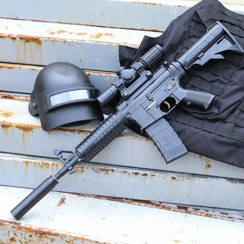 儿童玩具枪可发射m4男孩电动连发突击步抢