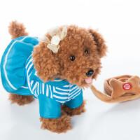 儿童电动毛绒玩具狗狗会唱歌会叫走路小狗机器狗男孩女孩1-3-6岁