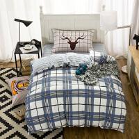 学生宿舍床上用品纯棉三件套上下床单人床床单被套j定制