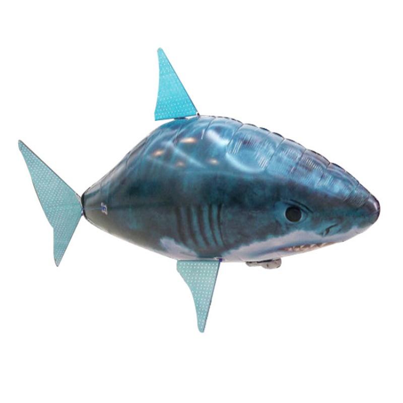 遥控空中鲨鱼 遥控飞鱼空中鲨鱼小丑鱼小鸟冲氦气气球悬浮飞艇飞机电动婚庆玩具  标配