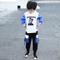 2019新款韩版洋气潮儿童装卫衣套装运动休闲两件套中大男童春秋装
