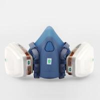 防毒面具喷漆专业化工气体面罩甲醛防工业粉尘硅胶防护口罩