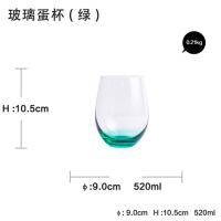 创意玻璃水杯牛奶早餐杯果汁杯欧式蛋形厚底杯透明咖啡杯生日礼物