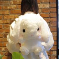 可爱兔子毛绒玩具 小公仔布娃娃背包ins网红小号玩具超萌大号床上 约45厘米