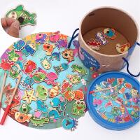 一岁女孩宝宝钓鱼儿童玩具磁性0-1-2-3周岁婴儿男孩玩具小猫钓鱼
