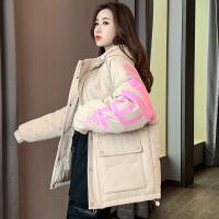 棉衣女中长款2020冬季新款韩版宽松羽绒棉服ins港风潮加厚工装外套