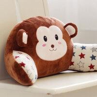 可爱猴子办公室靠垫卡通腰枕汽车椅子护腰靠枕靠背垫座椅抱枕腰靠