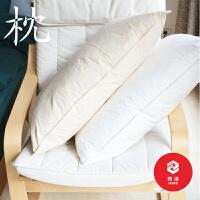 水鸟毛枕枕芯羽毛枕头羽绒枕蓬松棉护颈枕t定制