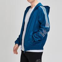 adidas阿迪达斯三叶草男装2019春季新款运动休闲连帽外套EB4085